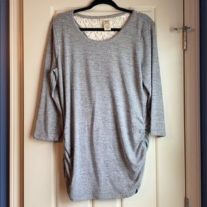 Faded Glory Light Sweater with cut out back - XL